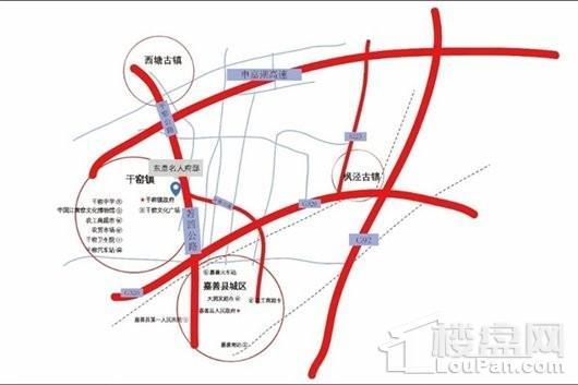 嘉善东鼎名人府邸二期交通图