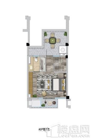 万科安亭新镇A2户型三层 3室2厅3卫1厨