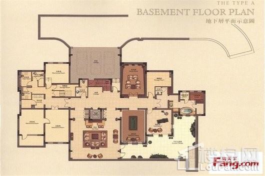 君庭A户型地下室 7室3厅3卫2厨