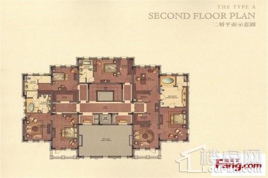 君庭A户型二层 7室3厅3卫2厨