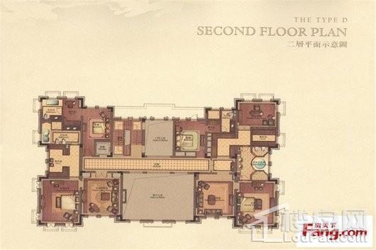 君庭D户型二层 7室3厅3卫1厨