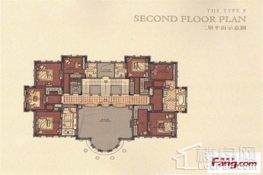 君庭F户型二层 7室3厅3卫2厨