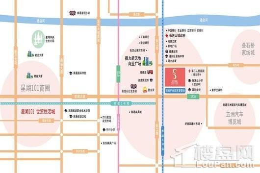 南通时代尚城交通图