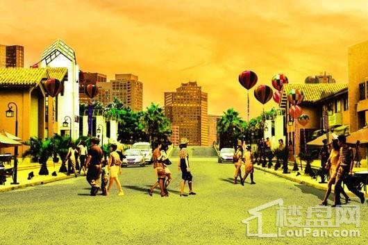 上海名流国际商业街效果图