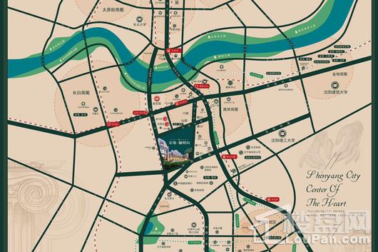金地樾檀山交通图