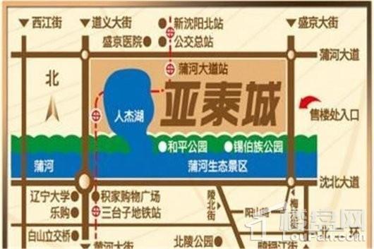 亚泰城交通图