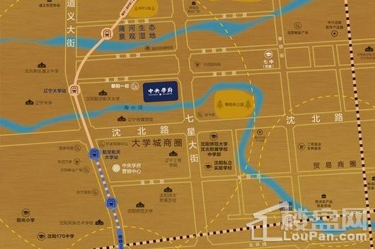 融创·中央学府交通图