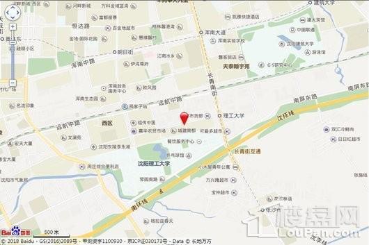 城建万科·翡翠书院交通图