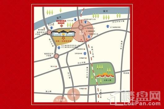 五彩阳光城交通图