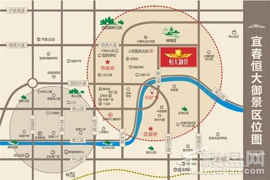 宜春恒大御景交通图