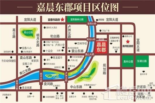 嘉晨东郡二期交通图