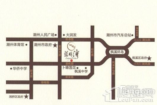 蓝玥湾家园交通图
