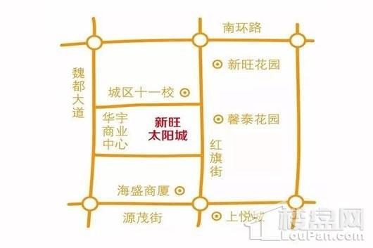 新旺·太阳城交通图