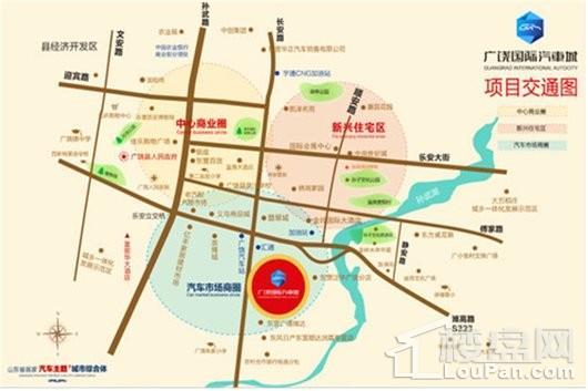 中国广饶国际汽车城交通图