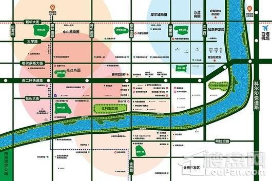 亿利生态城交通图