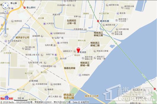 江畔国际交通图