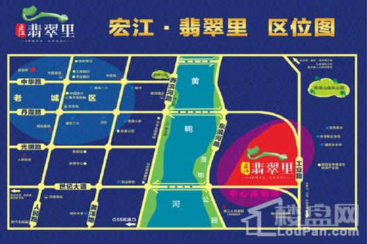 宏江翡翠里交通图
