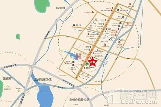 广海新景悦府交通图