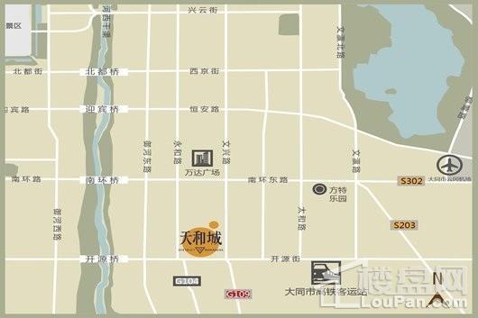 天和城交通图
