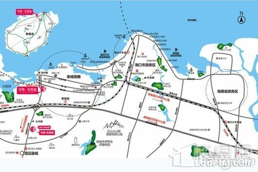 华西芙蓉海交通图
