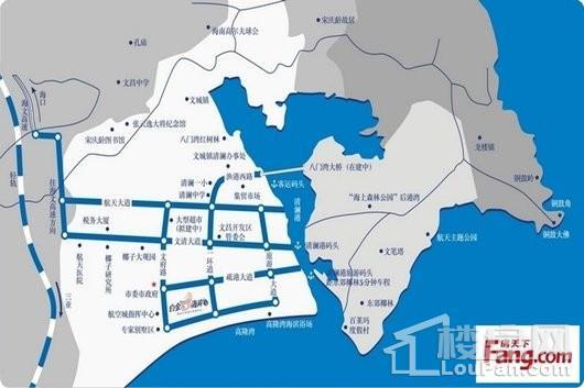白金海岸区位图