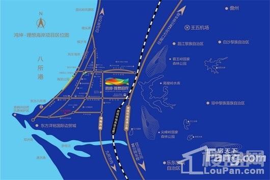 鸿坤理想海岸交通图
