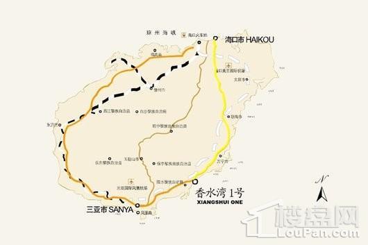 香水湾1号交通图