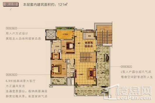 长弘·御墅F户型第三层 5室3厅5卫1厨
