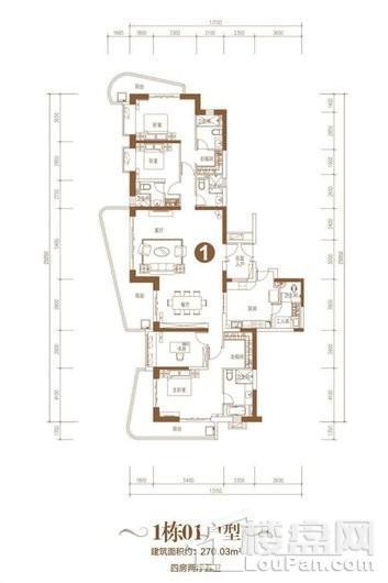 海口·恒大美丽沙1415地块户型3 4室2厅5卫1厨