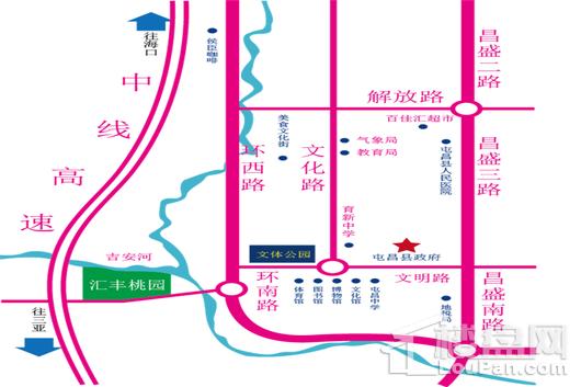 汇丰桃园交通图