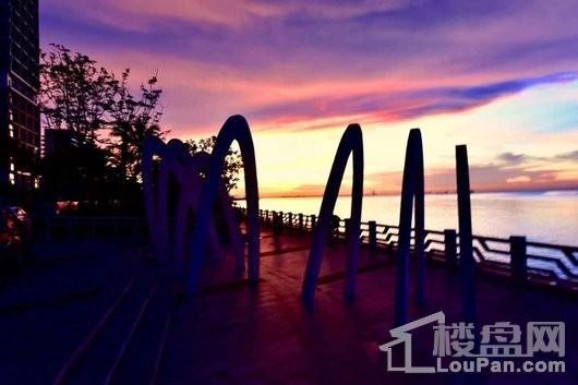 保利中央海岸小区夜景景观