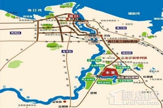 南国威尼斯城交通图