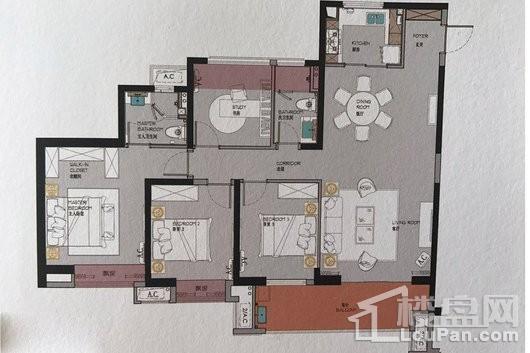 石狮正荣府C2户型 4室2厅2卫1厨