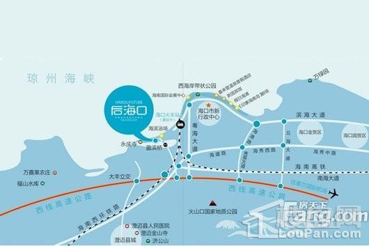 后海口交通图