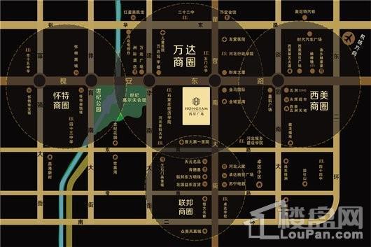 鸿昇广场交通图