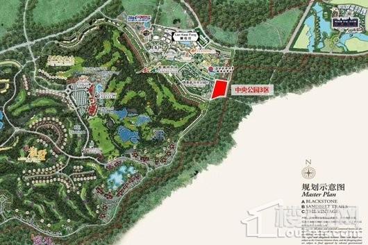 观澜湖·中央公园区平面规划图
