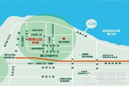颐养公社·阳光城交通图