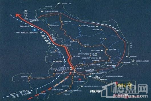 海拓澜湾区位图