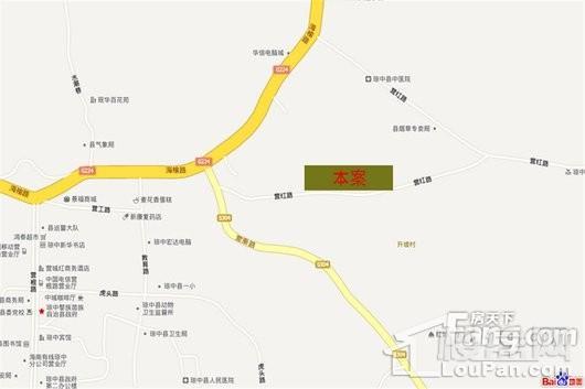 阳光紫荆花园交通图