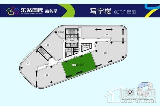 东站国际商业广场03F户型 1室