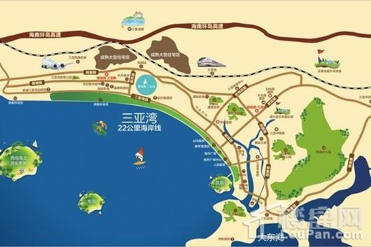 碧桂园三亚海交通图
