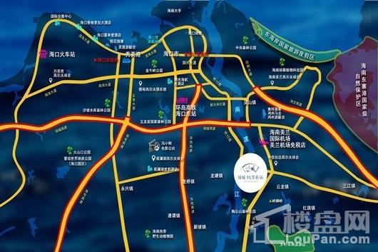 绿城·桃李春风交通图