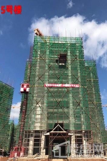 毗海澜湾5号楼工程进度