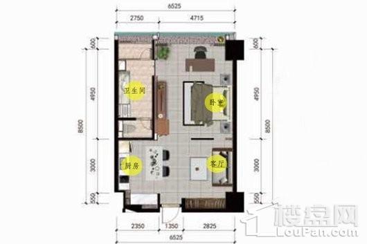 巨制国际公寓户型图