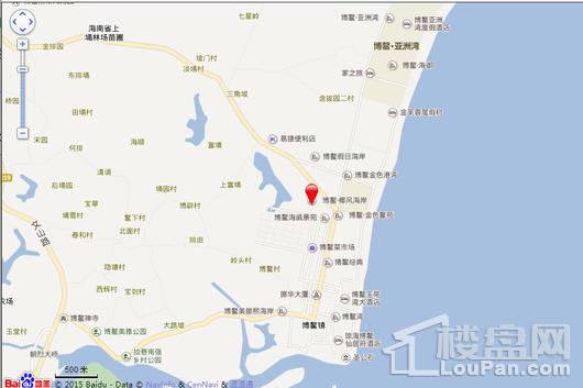 博鳌椰风海岸电子地图