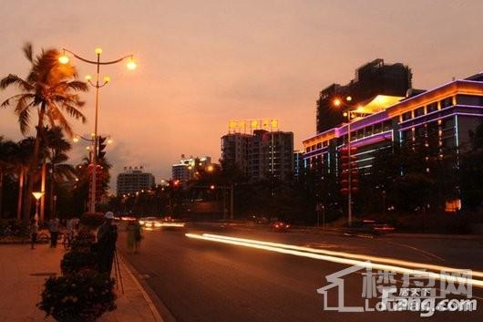 博鳌椰风海岸周边配套-万泉河广场夜景