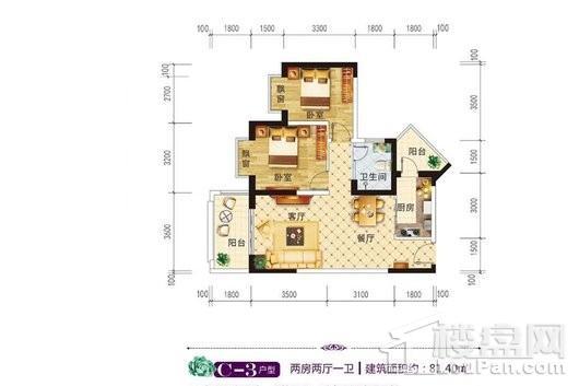 江畔锦城户型图