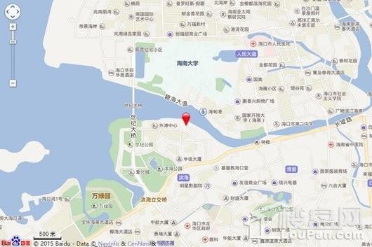 海口恒大外滩电子地图