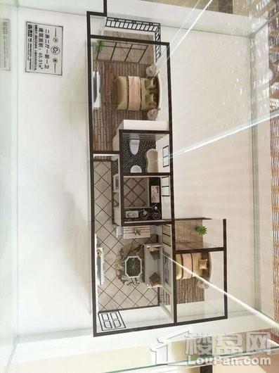 碧水南湾65㎡两房样板间户型模型图