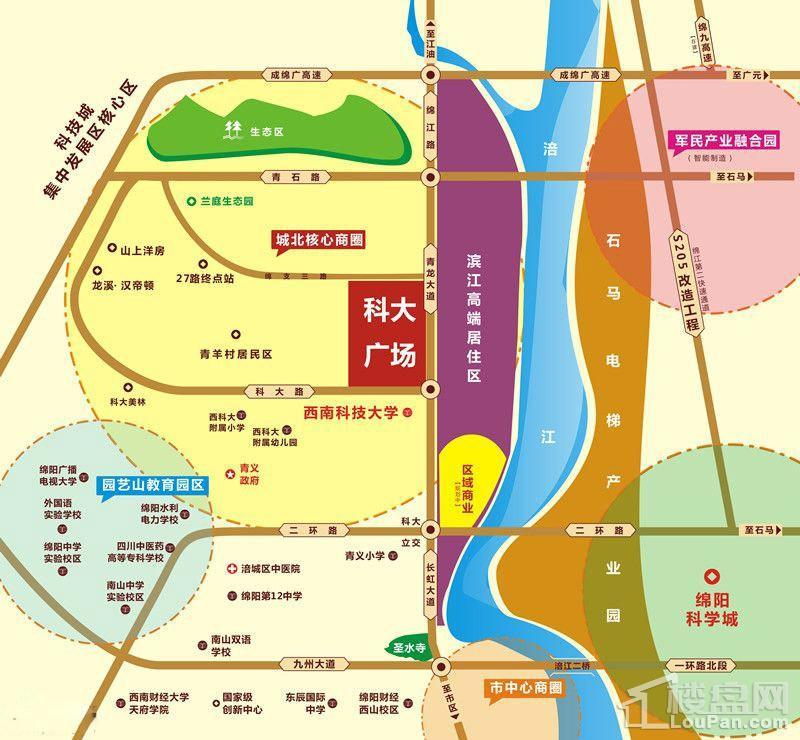 科大广场位置图